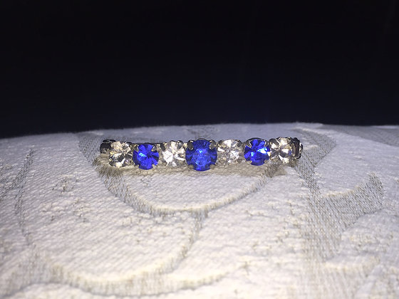Sapphire/Clear Stockpin