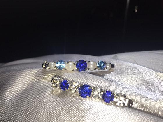Sapphire/Light blue/Pearl Stockpin