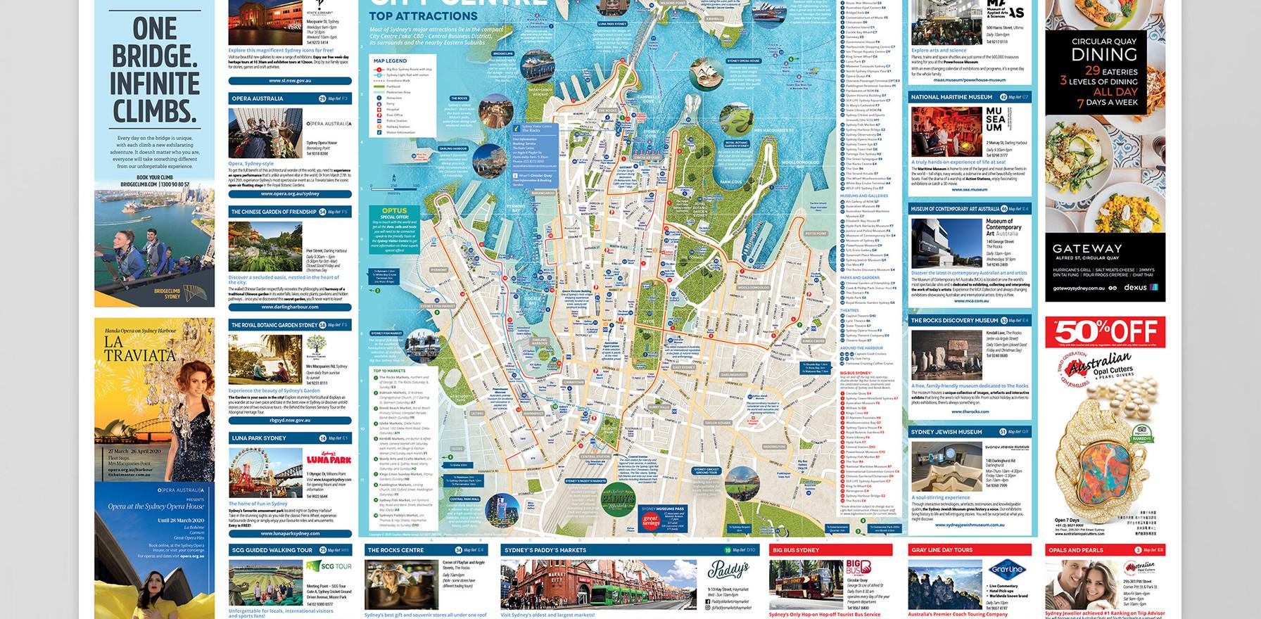Sydney Visitor Centre Map