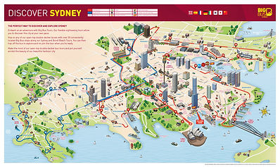 Big Bus Sydney Map