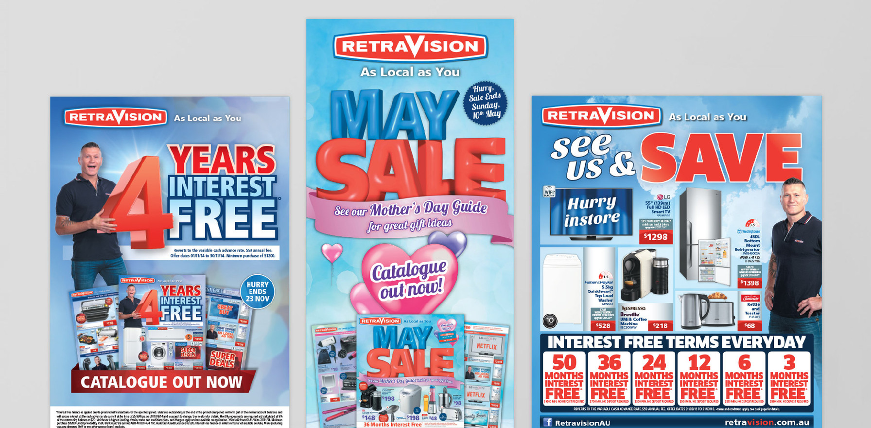 Retravision – Catalogues, POS and advertisement