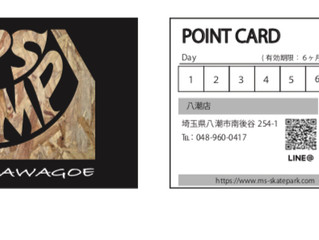 2店舗共通ポイントカード始めました。