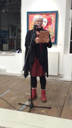 Performing at Bridport Story Slam