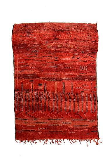 Thick vintage berber rug