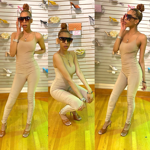 Dreamgirl Ruched Jumpsuit