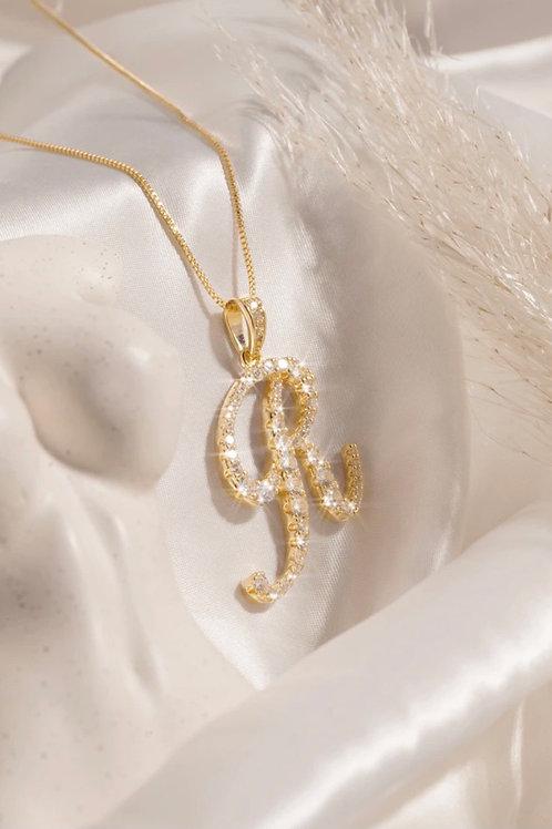 R letter Necklace