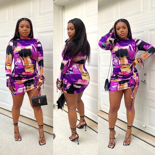 Girl Like Me Mini Dress Purple