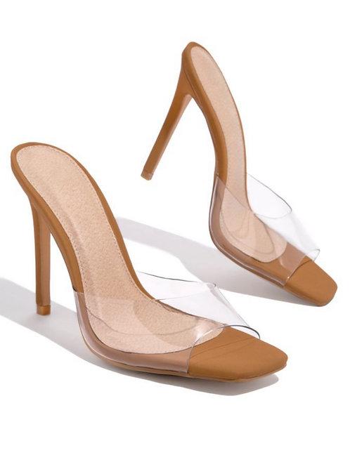 Allure Me Square Toe heels Camel