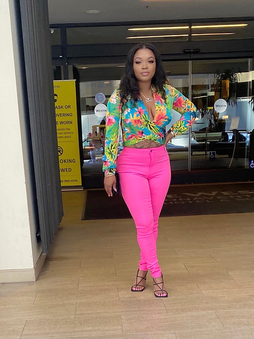 Dream Jeans in neon pink