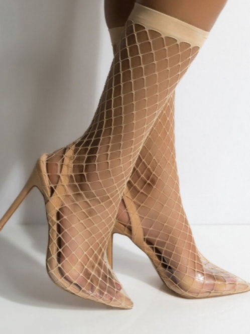 Fishnet booties