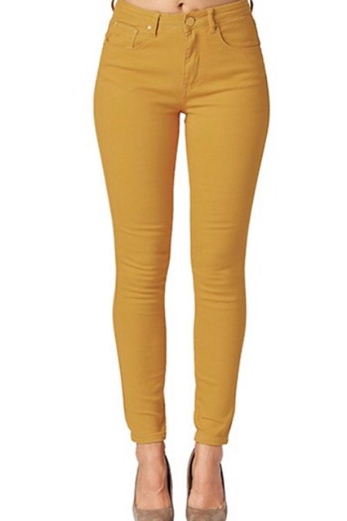 Mustard high waist denim