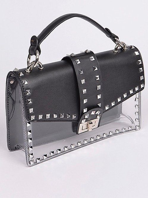 Roxanne Studded Clutch Black