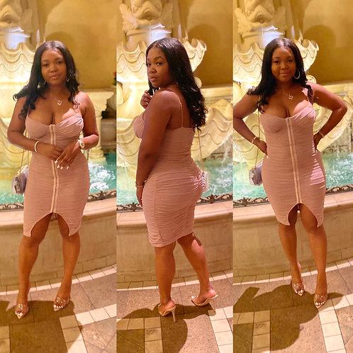 Brooke Bodycon Dress dust pink