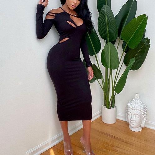 Flirt with me midi dress