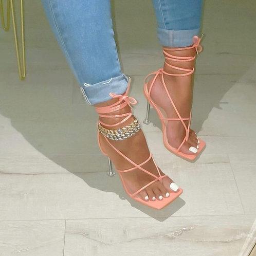 Camila Strappy Heels Blush
