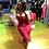 Thumbnail: Kiara ruched dress red