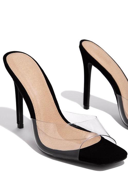 Allure Me Square Toe Heels Black