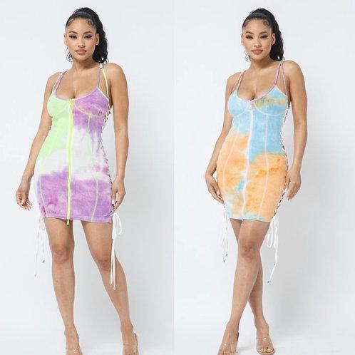 Color Electric mini dress