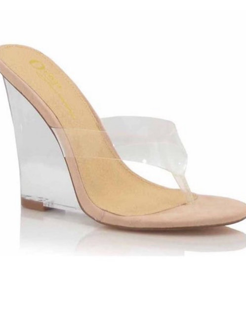 Kelly Clear Wedges nude
