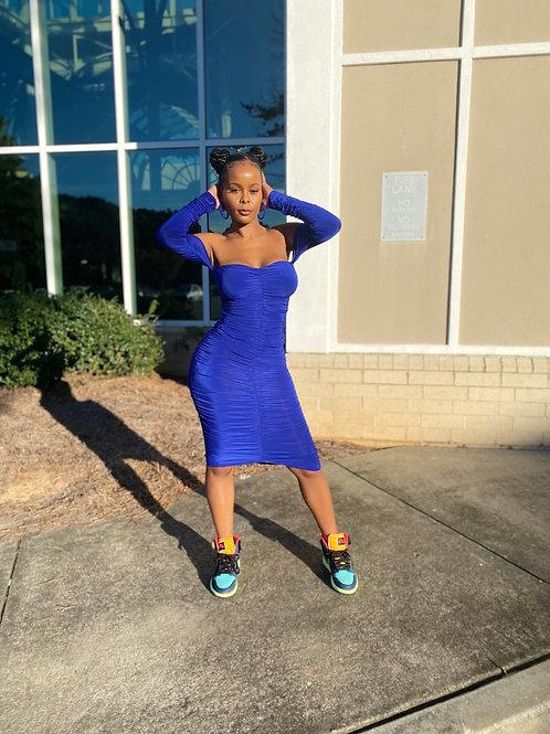 Angela Dress in Royal Blue