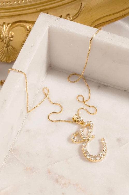 E Letter Necklace