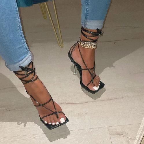 Camila Strappy Heels Black