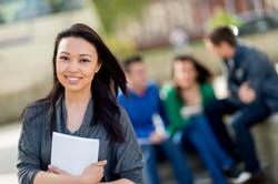 Asian student on NZ uni campus