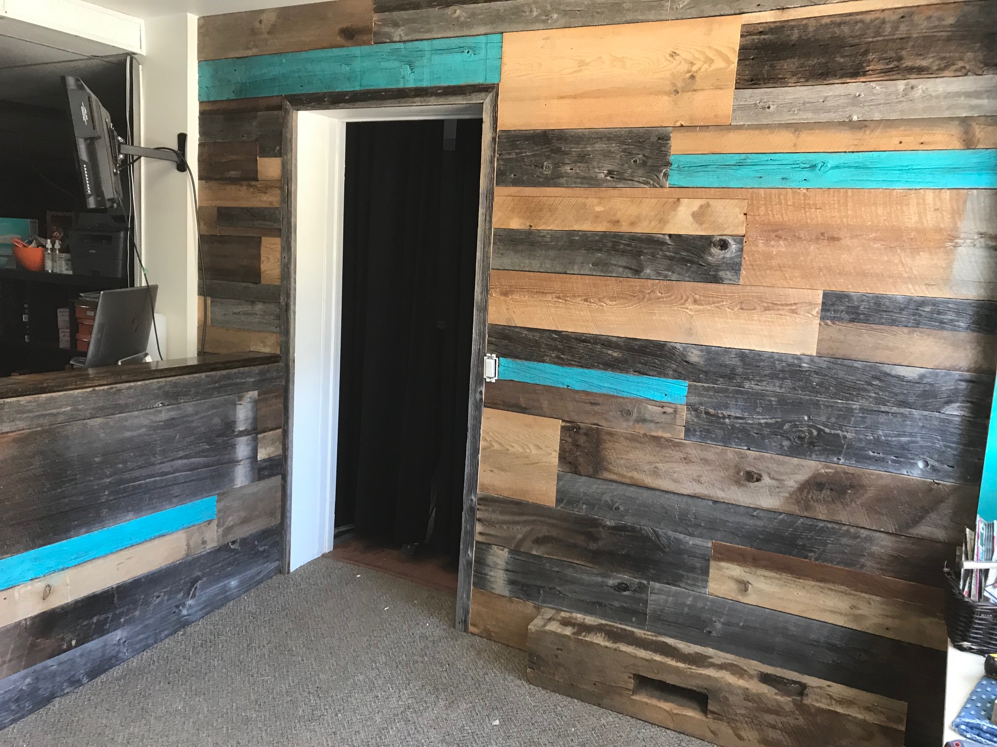 Reclaimed feature walls
