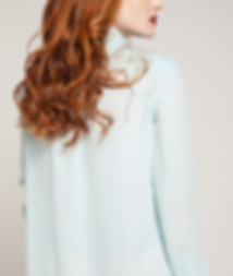 Back of a Model in Mint Shirt