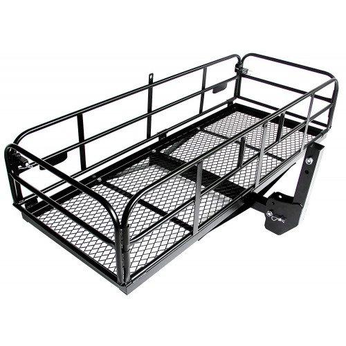"Foldable Hitch Cargo Carrier Mounted Basket Luggage Rack with 2"" Receiver"
