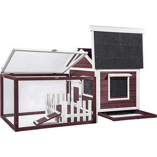 Pet Rabbit Hutch Wooden House Chicken Coop for Small Animals
