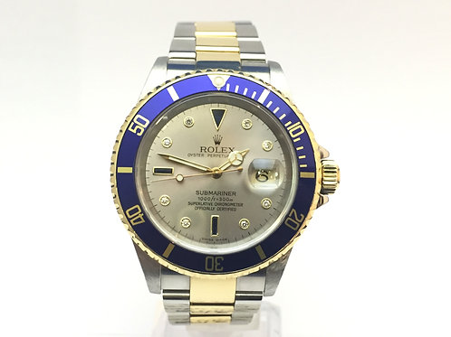 Rolex submariner Steel and gold[16613]