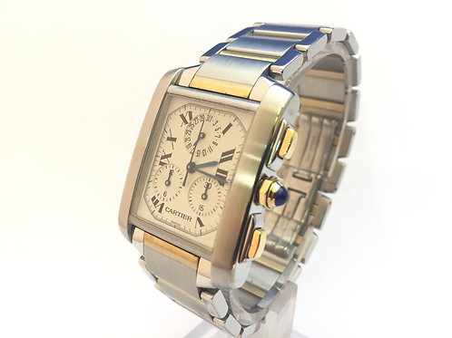 Cartier Tank Francaise Chrono Steel And Gold[2303]