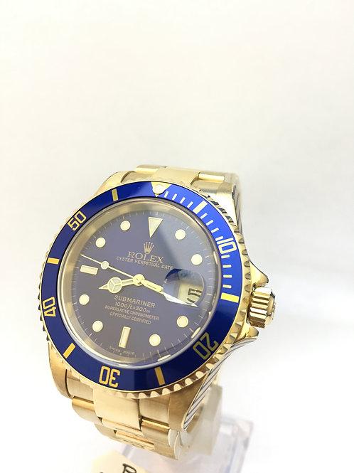 Rolex Submariner 18ct Gold [16618]