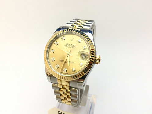 Rolex Date just Steel and Gold [178273] Midsize