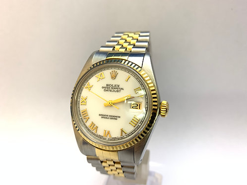 Rolex Date Just Steel and Gold[16013]