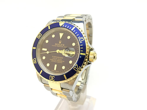 Rolex Submariner Steel and Gold {16613}