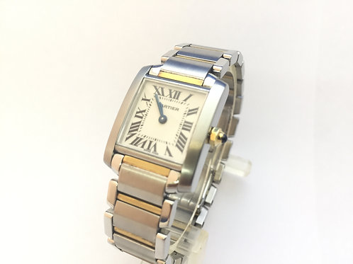 Cartier Tank Francaise Steel And Gold[2300]