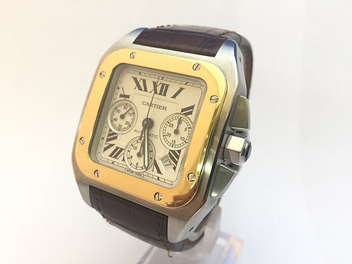 Cartier Santos 100 Steel and Gold[2740]
