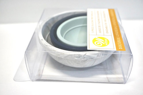 Silicone measuring bowls set of 3