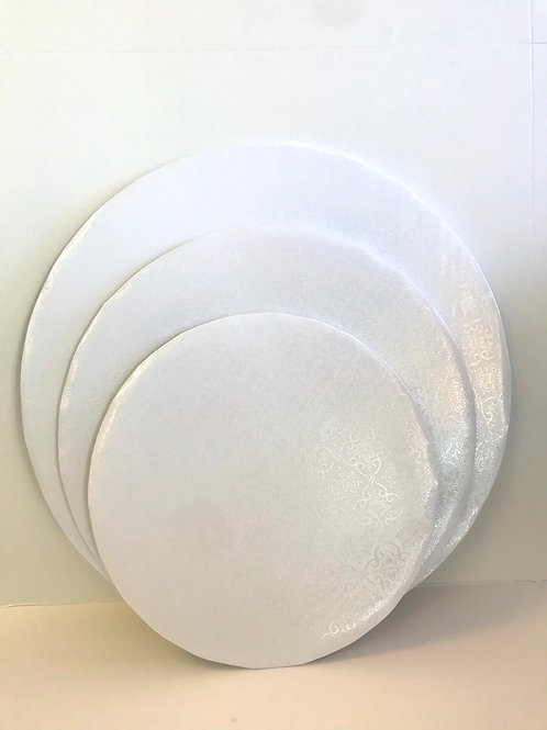 White wrap around board circle 3pack