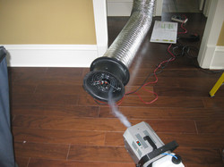Duct testing with smoke