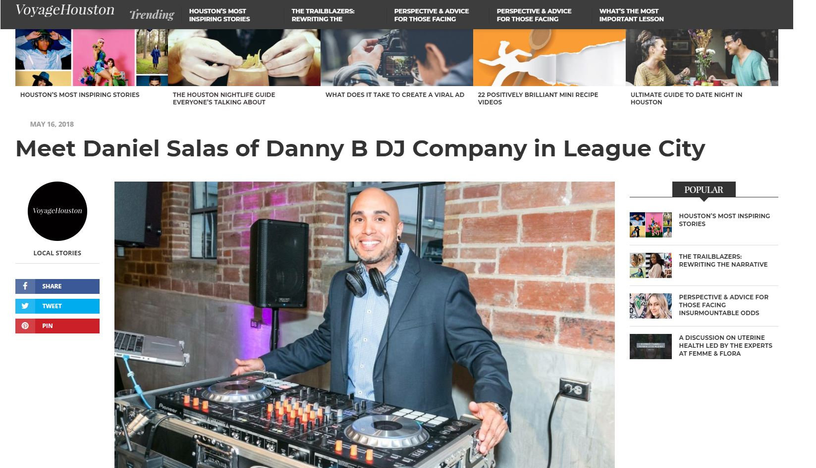Danny B Voyage Houston Article  Photo.JP
