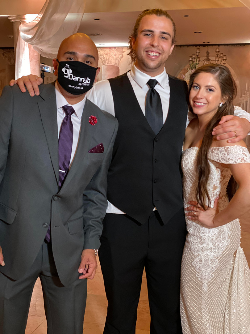 Danny mask wedding bride and groom houst