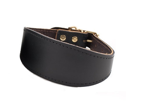 Black Value Leather Collar