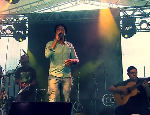 Acompanhando o cantor Marcio Nago no Brumadinho Gourmet 2016, com cobertura da Rede Globo Minas.