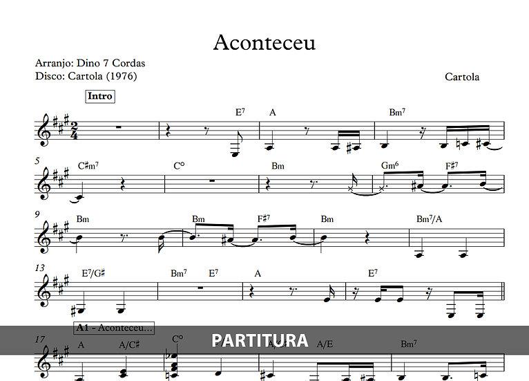Aconteceu - Cartola (Transcrição)