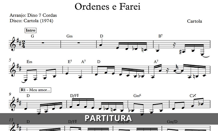 Ordenes e Farei - Cartola (Transcrição)
