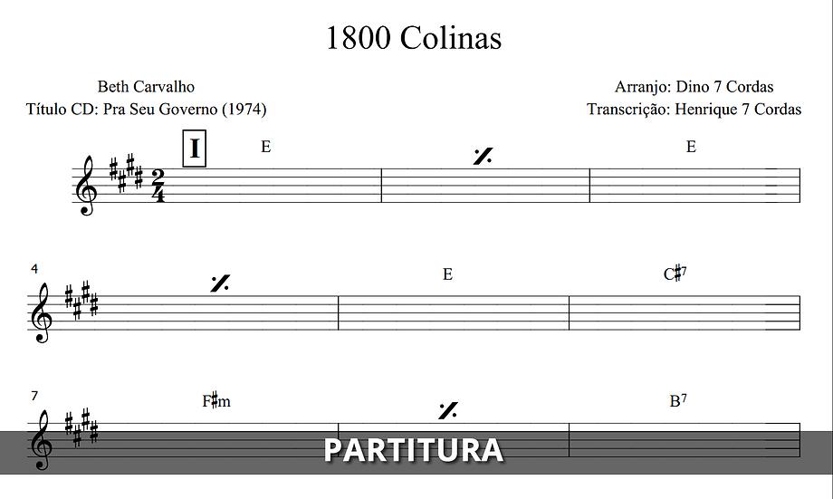 1800 Colinas - Beth Carvalho (Transcrição)