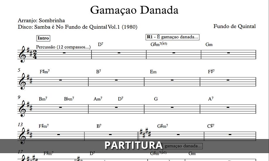 Gamação Danada - Fundo de Quintal (Transcrição)